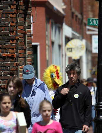 ALLEGRA BOVERMAN/Staff photo. Gloucester Daily Times. Gloucester: About 400 people walked in the 25th Annual Pride Stride through Gloucester on Sunday. The route wound its way from Stage Fort Park's visitor's center. This scene is along Main Street.