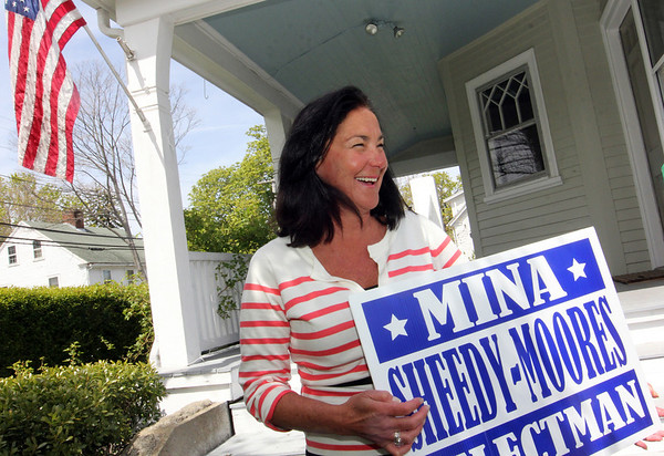 ALLEGRA BOVERMAN/Staff photographer. Gloucester Daily Times. Rockport: Write-in candidate Mina Sheedy-Moores of Rockport.