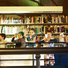 A group of Manchester kids gather along the upstairs balcony inside the Manchester Public Library to toss their homemade paper airplanes in a competition measuring who's had the best loftiness. According to the kids, there were many winners in this second Annual Paper Airplane Contest on Thursday afternoon. Jesse Poole/Gloucester Daily Times April 26, 2012