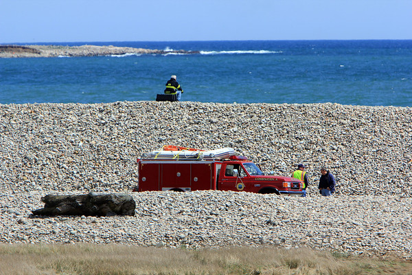 ALLEGRA BOVERMAN/Staff photo. Gloucester Daily Times. Rockport: The search for Caleigh Harrison continues in the Cape Hedge Beach and Long Beach areas of Rockport on Wednesday.