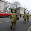 Gloucester:  Emergancy personal respond to a gas leak at 8 Prospect Street. The street was was blocked to traffic as firefighters evacuated homes in the area and vented the gas from the building. JIm vaiknoras/staff photo