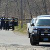 ALLEGRA BOVERMAN/Staff photo. Gloucester Daily Times. Rockport: Various law enforcement agencies, fire department and U.S. Coast Guard personnel were on the scene at Glenmere Street very close to the Long Beach spot where Caleigh Harrison, 2 1/2, of Gloucester, went missing on Thursday.
