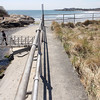 ALLEGRA BOVERMAN/Staff photo. Gloucester Daily Times. Rockport: Balloons have been placed on the footbridge over Saratoga Creek that joins Long Beach and Cape Hedge Beaches. Caleigh Harrison, 2 1/2, of  Gloucester, went missing in this vicinity last week. This view is from up on the boardwalk.