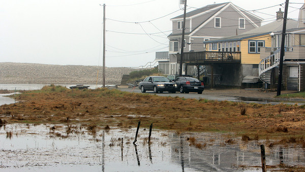 ALLEGRA BOVERMAN/Staff photo. Gloucester Daily Times. Rockport: Massachusetts State Police cruisers were keeping an eye on Saratoga Creek, Long Beach and Cape Hedge Beach on Monday on Old County Road.