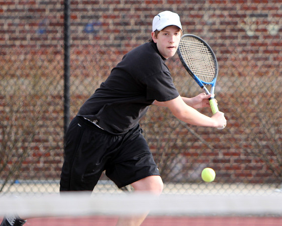 ALLEGRA BOVERMAN/Staff photo. Gloucester Daily Times. Gloucester: Cody Marshall, a Gloucester High School senior, is captain of the boys tennis team.