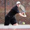 ALLEGRA BOVERMAN/Staff photo. Gloucester Daily Times. Gloucester: Cody Marshall, a Gloucester High School senior, is captain of the boys tennis team.