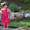 ALLEGRA BOVERMAN/Staff photo. Gloucester Daily Times. Gloucester: Lizzy Harrison, 4, of Gloucester, sister of missing toddler Caleigh Harrison, plays with her cousins in her backyard on Friday.