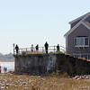 ALLEGRA BOVERMAN/Staff photo. Gloucester Daily Times. Rockport: People search along Long Beach on the Rockport side next to Cape Hedge Beach in the vicinity where Caleigh Harrison, 2 1/2, of Gloucester went missing on Thursday.