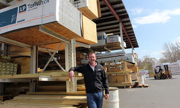ALLEGRA BOVERMAN/Staff photo. Gloucester Daily Times. Gloucester: Chris Costello, owner of Timberline Enterprises, LLC Lumber & Building Materials. The business is expanding into Newburyport.