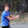 ALLEGRA BOVERMAN/Staff photo. Gloucester Daily Times. Gloucester: Lorenzo Colasanti, a Gloucester High School senior and exchange student, plays on the boys tennis team.