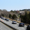 Traffic coming into Gloucester via Route 128 backs up to Exit 14 on Monday. Jesse Poole/Gloucester Daily Times April 16, 2012