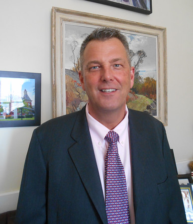 RAY LAMONT/Staff photo<br /> Daniel Smith of Gloucester has been named the city's chief of administration by Mayor Sefatia Romeo Theken. His appointment is for 90 days, and replaces the outgoing Jim Destino.