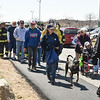 Desi Smith/Staff photo.    Young and old took part in the 29th Annual Pride Stride Walk that started and ended at Stage Fort Park Sunday afternoon,even a group of firefighters from Rockport in full gear.   April 24,2016