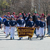 "Desi Smith/Staff photo.   The Tigers lead the way down Dr. Osman Babson Road during the Gloucester Little League parade and season openner Saturday morning on Dr. Osman Babson Road, where they also held a field dedication ceremony naming a new field in honor of Harold ""Bucky"" Rogers.      April 30,2016   Gl"