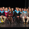 Desi Smith/Staff photo.   National Honor Society Members wait to recieve their awards during an award ceremony held Tuesday night at the Gloucester High School.  April 26,2016