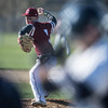 Desi Smith/Staff photo.    Gloucester's pitcher Liam Lyons throws against a Danvers batter Wednesday afternoon at Nate Ross Field at O'Maley School.     April 27,2016