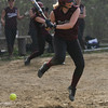 Rockport second baseman Amanda Chalmer leaps over a low pitch during their game against Georgetown yesterday. Photo by Kate Glass/Gloucester Daily Times
