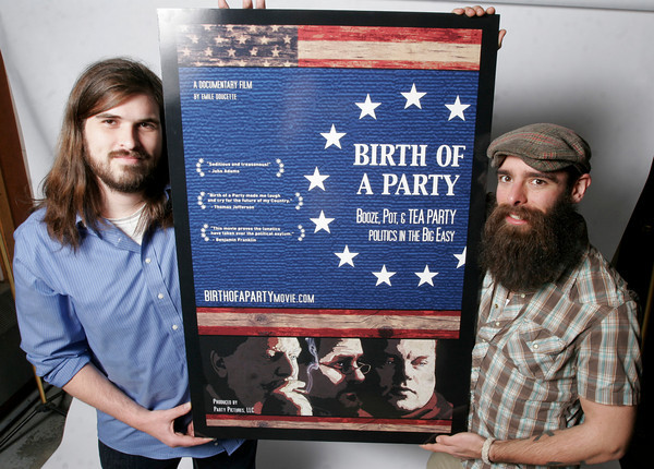 "Emile Doucette and Tommy Papows will premiere their first feature length film, ""Birth of a Party: Booze, Pot & Tea Party Politics in the Big Easy,"" at Kendall Square Cinema on April 7th at 7:30."
