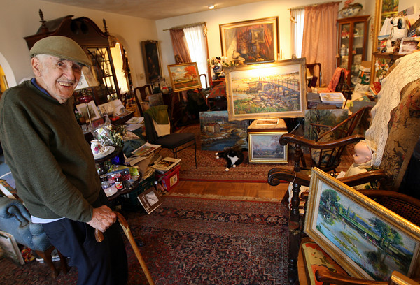 Wayne Morrell will hold an open house showing of his oil paintings at his home and studio on Saturday from noon to 4 p.m. Photo by Kate Glass/Gloucester Daily Times