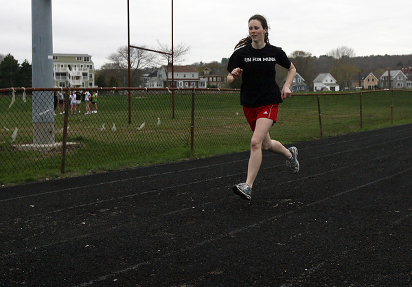 Gloucester: Tori Hilshey, a senior on the Gloucester girls track team, played a large role in their first win of the season against Saugus. Photo by Kate Glass/Gloucester Daily Times