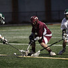 Manchester: Manchester Essex's Andrew Randall and Chris Dumont try to knock the ball away from Gloucester's Geoff Kennedy during their game at Hyland Field on Saturday night. Gloucester won 9-3. Photo by Kate Glass/Gloucester Daily Times