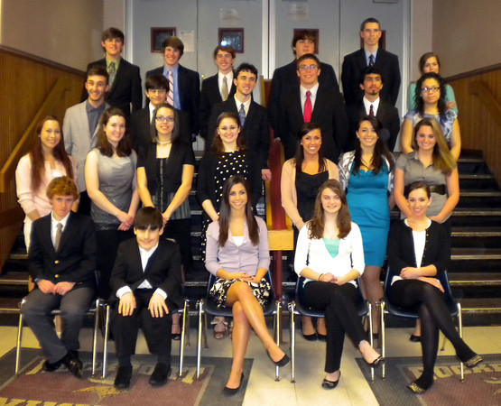 Rockport: Twenty-six students at Rockport High School were inducted into the National Honor Society during a ceremony on Thursday night. Photo by Gail McCarthy/Gloucester Daily Times