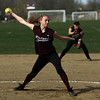 Rockport pitcher Kristen Turner throws during their game against Georgetown yesterday. Photo by Kate Glass/Gloucester Daily Times