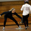 Rockport: Rockport senior Kelsey Keough tags a runner as they work on fielding scenarios during softball practice. Photo by Kate Glass/Gloucester Daily Times