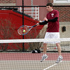 Gloucester: Gloucester's Ben Chianciola returns a serve during their match against Beverly yesterday. Photo by Kate Glass/Gloucester Daily Times