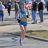 Gloucester: Joanie Bohlke of Waltham heads to the finish with a time of 5:11 taking 1st place for the women. Desi Smith/Gloucester Daily Times.April 9,2011.