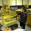 Rockport: Jack Rukeyser, a 6th grade student at Rockport Middle School, tests the island tower challenge project in Bob Cannon's tech design class during the Middle School Expo Night. Photo by Gail McCarthy/Gloucester Daily Times