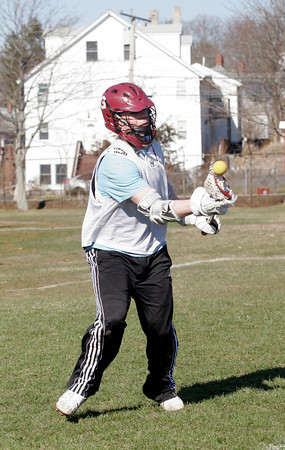 Gloucester's Coltyn Rivas passes the ball during practice yesterday. Photo by Kate Glass/Gloucester Daily Times