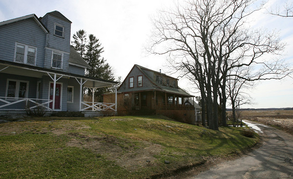 Essex: Conomo Point, particularly the fate of home south of Robbins Island Road, will be a focus of discussion in next month's town meeting. Photo by Kate Glass/Gloucester Daily Times