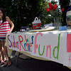 Rockport: Emma Rukeyser, left, and Anna Catena, both 10, set up a lemonade stand at the intersection of Summer Street and Jerden's Lane to raise money for Catena's uncle, Tom Catena, who is a doctor in Sudan. Photo by Kate Glass/Gloucester Daily Times Friday, August 7, 2009