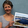 An unfinished painting of Rockport Harbor by B.J. Wayne was stolen from her car over the weekend. Anyone with information regarding its whereabouts should contact the police. Photo by Kate Glass/Gloucester Daily Times Thursday, August 13, 2009
