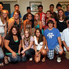 Gloucester: The JJ Nicastro Foundation announced the recipients of the JJ Nicastro High School Athletic Scholarship at Cameron's on Tuesday night. The scholarship pays for students' sports user fees throughout their high school career. The foundation is now sponsoring 20 student athletes. The 2008 recipients are: Marcus Cottone, Kyle Lucido, Meghan Muniz, Paulo Lopes, Hali Doucette, Hannah Verga, Chris Burke, Keri Brewer, Hilary Ellis, and Andi Jane Phinney. The 2009 recipients are: Jesse Glidden, Erin Jermyn, Katrina Munroe, Abigail Avila, Zach Smith, Krystina Novello, Mark Horgan, Samantha Lewis, Claudia Oliva, and Nick Lucido. Photo by Kate Glass/Gloucester Daily Times Tuesday, August 25, 2009