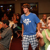 Gloucester: The audience applauds as Mark Horgan is announced as the first recipient of the JJ Nicastro MVP Award during the JJ Nicastro High School Athletic Scholarship awards night at Cameron's on Tuesday night. The award covers sports user fees for Horgan's high school career plus football mini camp and sports equipment. Photo by Kate Glass/Gloucester Daily Times Tuesday, August 25, 2009