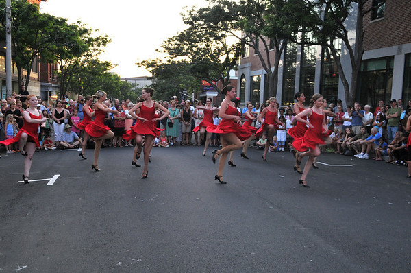 Gloucester: Members of the Cape Ann Center of Dance perform for a large crowd Saturday night at the Main St Block Party. Desi Smith Photo/Gloucester Daily Times.August 15,2009.