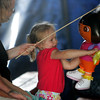 Rockport: Ruby Townsend, 2, of Rockport dances with her Dora the Explorer balloon at the Vidbel Circus behind Rockport Elementary School Saturday afternoon. Mary Muckenhoupt/Gloucester Daily Times