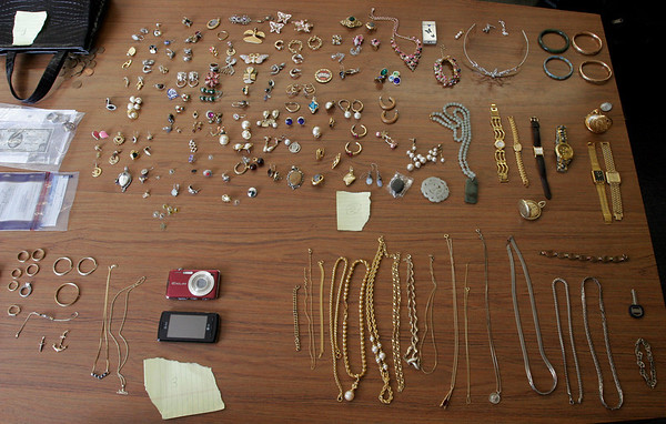 Gloucester: Gloucester Police have recovered several thousands of dollars worth of stolen items from a spree of break-ins around Gloucester this past week. Photo by Kate Glass/Gloucester Daily Times Friday, August 7, 2009