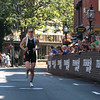 Alicia Kaye of Maynard races toward the finish as the first female to complete the 1st Gloucester Triathlon held Sunday morning. Photo by Desi Smith/Gloucester Daily Times