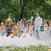 The children of the Manchester Summer Playground program enjoy their time in a sea of foam after a day of public saftey demonstarations done by the Beverly and Manchester Fire departments. The foam was provided by the Manchester fire department. Photo by Maria Uminski/ Gloucester Daily Times