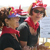 Rockport: Daphne Ped Congelosi, left, and Mary Anne Whited serve wines at the Lobsterfest on Saturday morning.<br /> Silvie Lockerova/Gloucester Daily Times