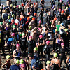 Hundreds of competitors gather on Pavilion Beach before the start of the 1st Gloucester Triathlon held Sunday morning. Photo by Desi Smith/Gloucester Daily Times