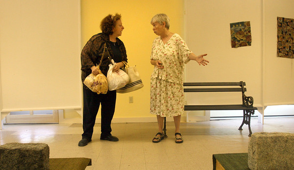 """Gloucester: Jennifer Lee Levitz, left, and Sarah Clark, right, will be performing Clark's play, """"Loving Hearts,"""" at the Lanesville Community Center Friday through Sunday at 7:30."""