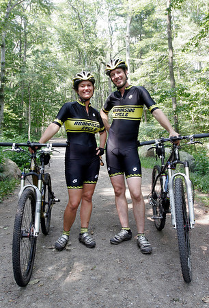 Heidi Wakeman, left, and Coley Bryan of Gloucester will be riding in the 24 Hours of Great Glen Mountain Bike Race at Mt. Washington this weekend. Photo by Kate Glass/Gloucester Daily Times