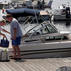 Rockport: Neal Grover, left, and John Rowell load up their boat at Pigeon Cove yesterday afternoon for a day at the beach. Photo by Kate Glass/Gloucester Daily Times Tuesday, August 18, 2009