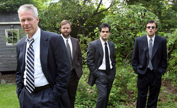 """Gloucester: Robert Walsh, David Nail, Francisco Solorzano, and Christopher Whalen star in Israel Horovitz's play, """"Sins of the Mother,"""" which is showing at Gloucester Stage Company August 27-September 13. Photo by Kate Glass/Gloucester Daily Times Wednesday, August 26, 2009"""