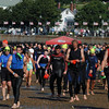 Hundreds of competitors head to the starting point of the race, for the 1st Gloucester Triathlon held Sunday morning on Pavilion Beach. Photo by Desi Smith/Gloucester Daily Times
