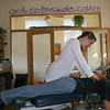Gloucester: Dr. Nicole K. Andrade provides a chiropractic adjustment on Heather Peterson, florist from Audrey's Flower Shop, at Atlantic Family Chiropractic PC, a new Cape Ann Healing Center for integrative healing and sustainable community at Para Research Building on Friday morning.<br /> Silvie Lockerova/Gloucester Daily Times